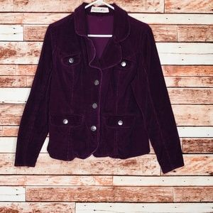 Purple Corduroy Jacket Size 12